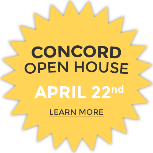 Concord Open House on April 22